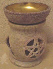 oildiffuser-alabast, cup plated with lauer of brass